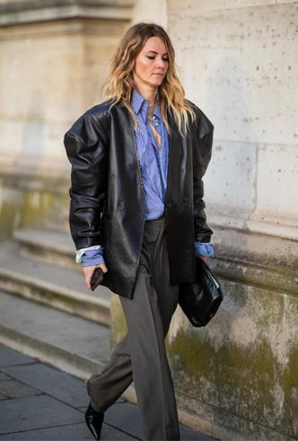 Фото №3 - Как носить кожаный жакет из 90-х: лучшие сочетания сезона