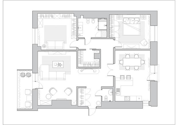 Фото №14 - Классическая квартира с латунными акцентами