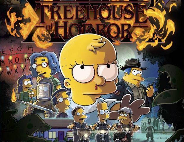 Фото №1 - «Симпсоны» спародировали сюжет «Очень странных дел»