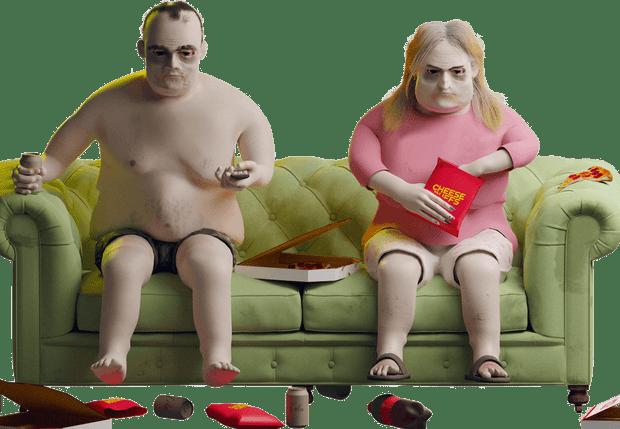 Фото №1 - Ожирение, горб и налитые кровью глаза: как будет выглядеть фанат сериалов через 20 лет злоупотребления «Нетфликсом» (фото)