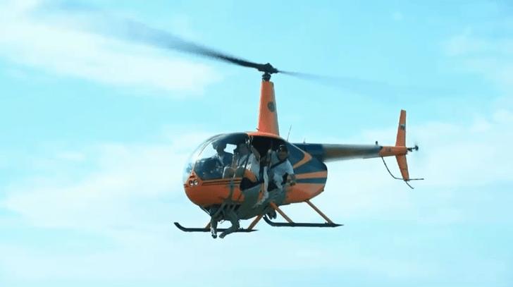 Фото №1 - Блогер скотчем примотал человека к вертолету ради лайков и получил дизлайк от следствия (видео прикрепляем)