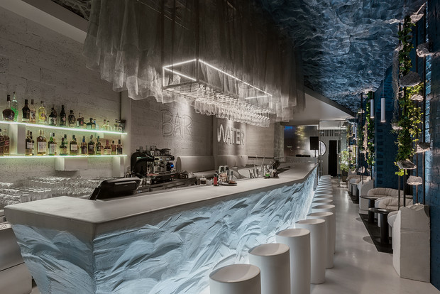 Бар Water, проект студии Archpoint, Москва