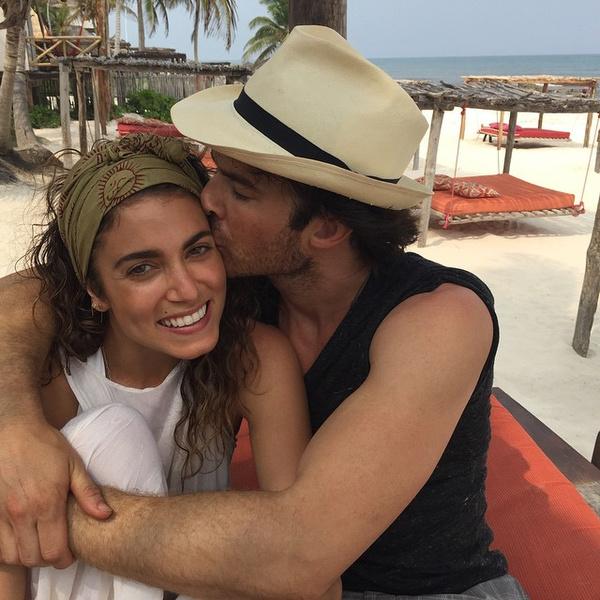 Фото №1 - Сомерхолдер и Рид проводят чудесный медовый месяц