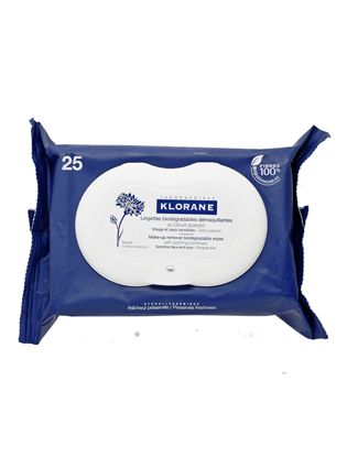 Klorane make-up removal wipes