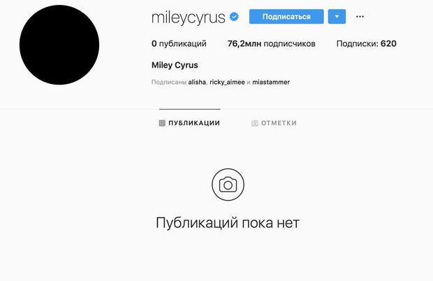 Фото №1 - Почему Майли Сайрус удалила все фотографии из своих профилей в соцсетях?