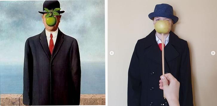 Фото №2 - #Изоизоляция: русскоязычные пользователи в карантине копируют знаменитые картины