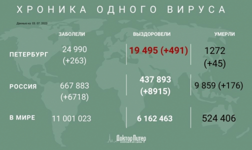 Фото №1 - В Петербурге за сутки коронавирусом заразились 263 человека