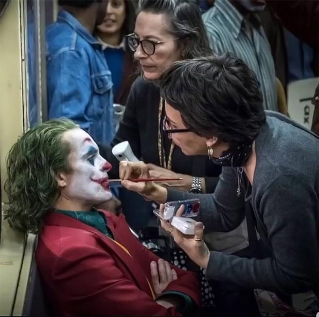 Хоакин Феникс на съемках «Джокера», 2019