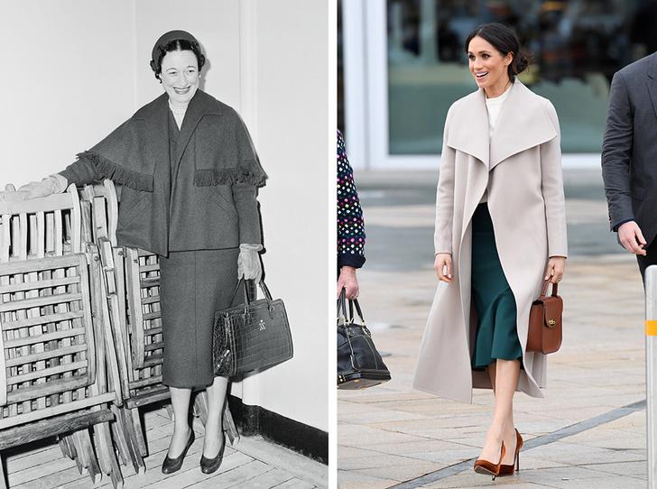Фото №1 - Неожиданный вывод модного эксперта о стиле Меган Маркл: «Новая Уоллис Симпсон»