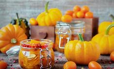 Сладкий салат из тыквы с апельсином в банке