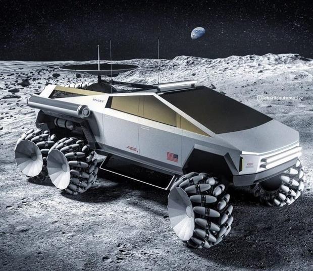 Фото №1 - Концепт дня: луноход на базе Tesla Cybertruck