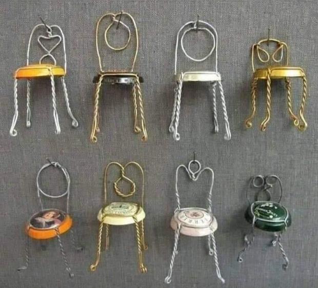 Фото №7 - Как сделать стульчик из пробки и проволочки от шампанского