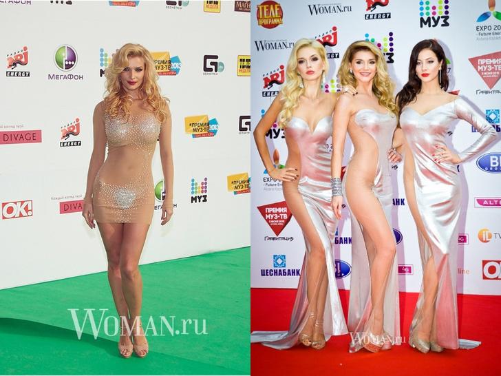 Фото №11 - Незабываемые образы звезд на «Премии МУЗ-ТВ»: модные взлеты и падения