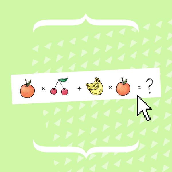 Фото №1 - Тест на сообразительность: Сможешь правильно решить это фруктово-ягодное уравнение? 🍒