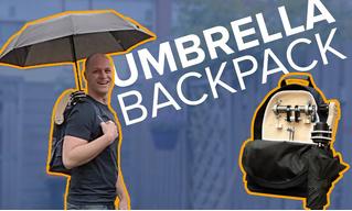 Парень изобрёл рюкзак со встроенным зонтом (видео)