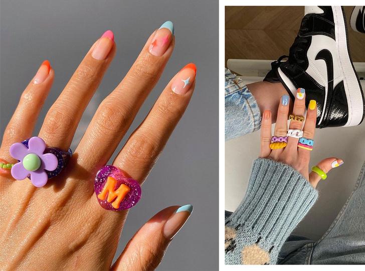 Фото №1 - Самый летний тренд: как носить пластиковые кольца, как у Беллы Хадид и Дуа Липы