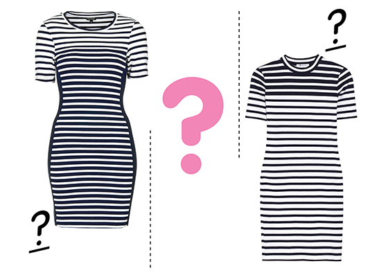 Фото №1 - Дорого-дешево: платье в полоску