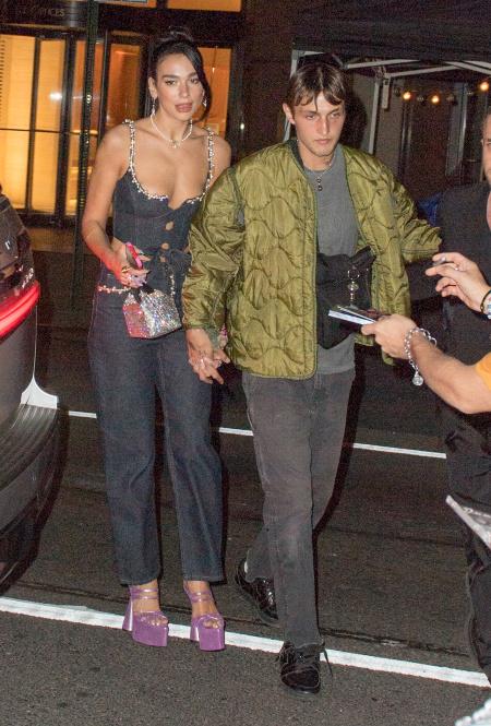 Дуа Липа и Анвар Хадид в Нью-Йорке