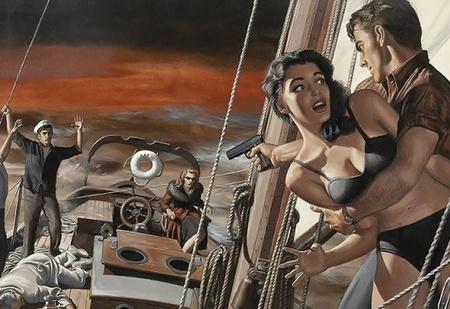 Художник недели: шпионы, стволы и барышни Морта Кунстлера