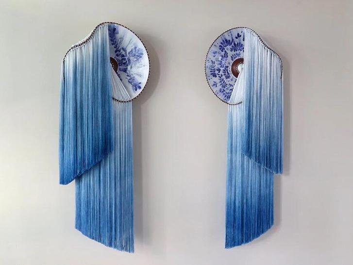 Фото №1 - Тарелки с вышивкой: необычные работы Николь Маклафлин
