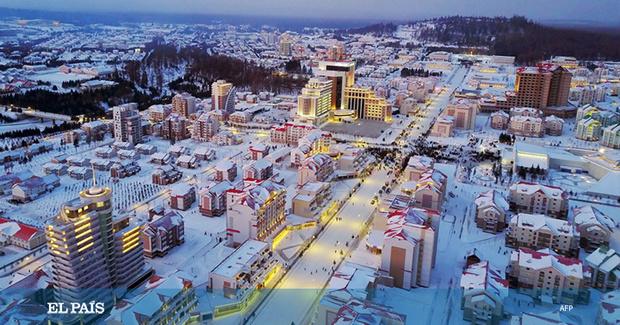 Фото №4 - В Северной Корее построили город-утопию, с курортом и торговыми центрами (фото)