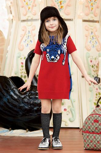Фото №13 - Золотая карусель: лукбук осенне-зимней детской коллекции Gucci 2016/17