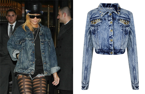 Рианна (Rihanna); куртка Miss Selfridge