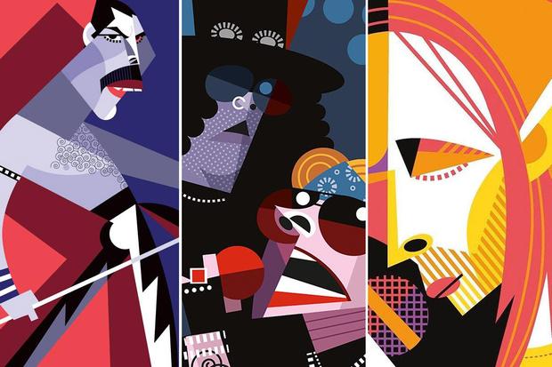 Фото №1 - 42 рок-музыканта в психоделичных иллюстрациях Пабло Лобату