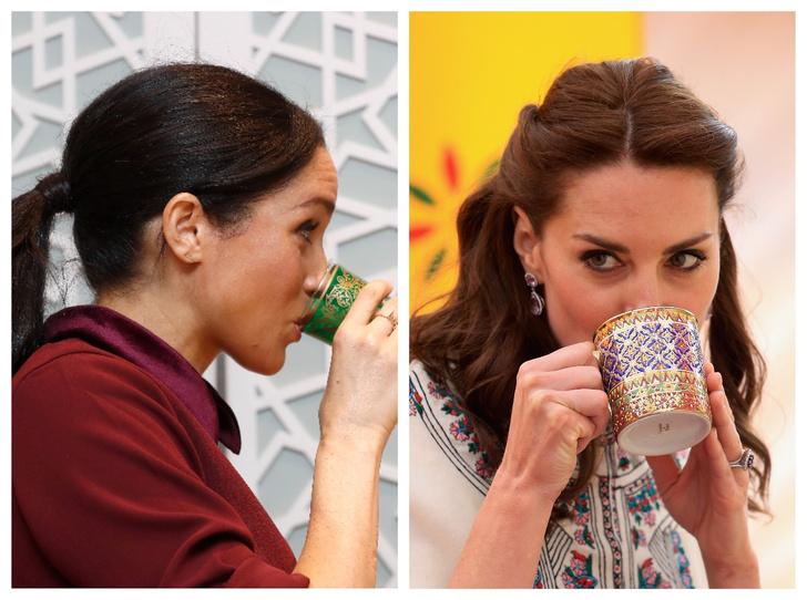Фото №1 - Такие разные герцогини: напиток, который обожает Меган и не переносит Кейт