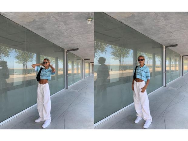 Фото №2 - Безупречные белые джинсы + винтажный топ: универсальный образ стилиста Софии Коэльо