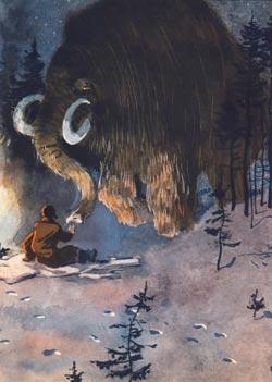 Фото №1 - С. Гансовский. Гость из каменного века