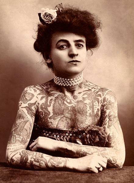 Фото №1 - Мод Вагнер: первая в мире женщина-татуировщица