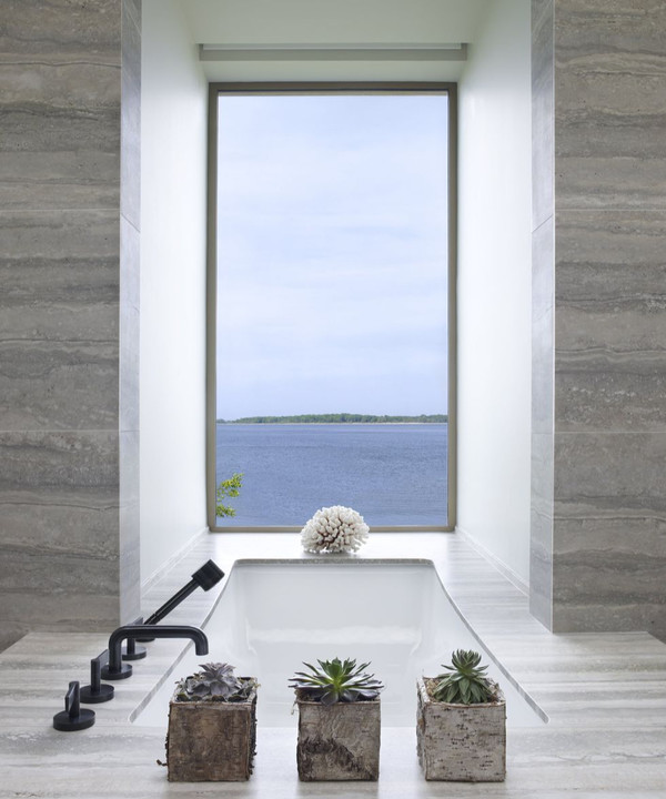 Ванная комната с панорамными окнами: 35+ примеров