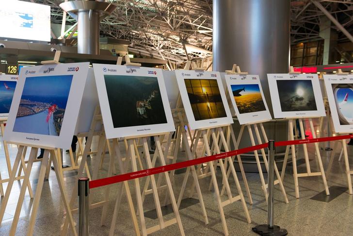 Фото №1 - В аэропорту Внуково открылась фотовыставка «Вокруг света» под названием «Небо, самолет, Turkish Airlines»