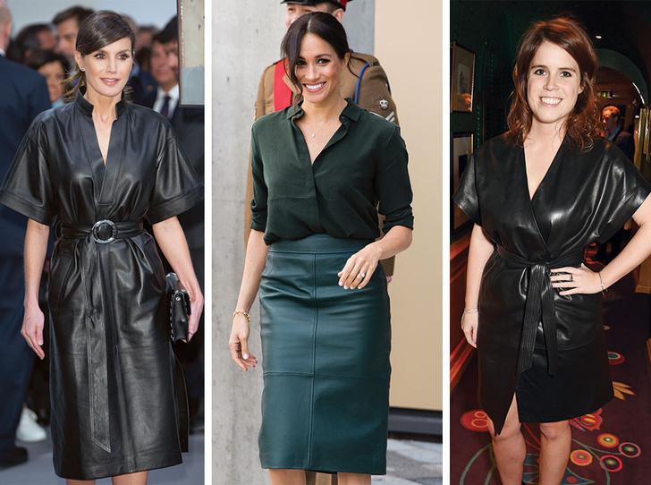 Фото №1 - Бунтарки: как королевские особы носят кожаные вещи