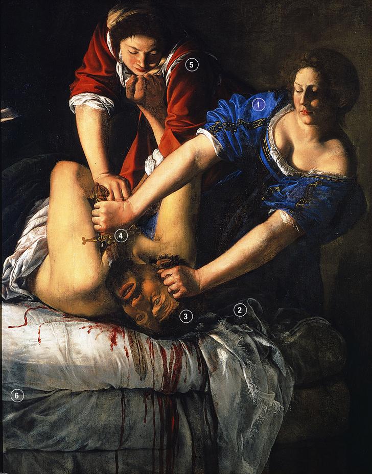Фото №1 - Женская сила: «Юдифь, убивающая Олоферна» Артемизии Джентилески