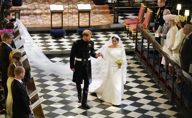 Кадр со свадьбы принца Гарри и Меган Маркл