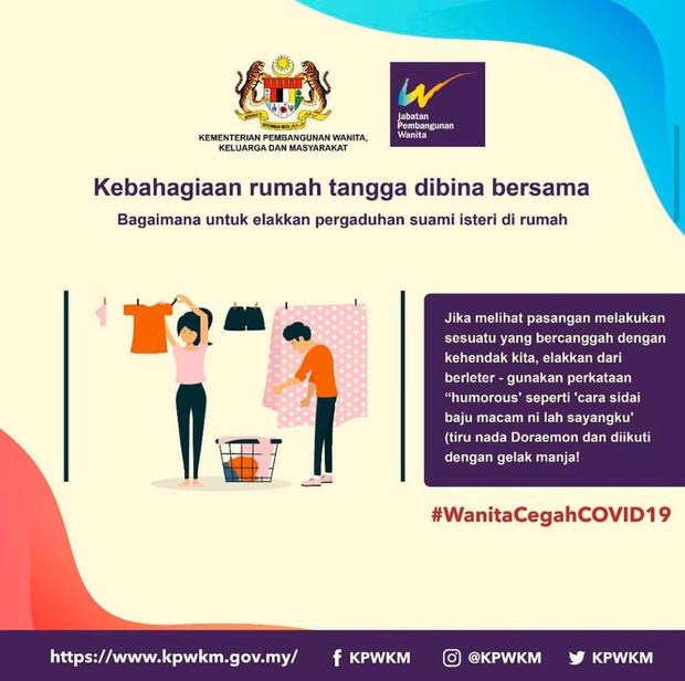 Фото №3 - Власти Малайзии дали сексистские советы женщинам, как вести себя с мужьями на карантине