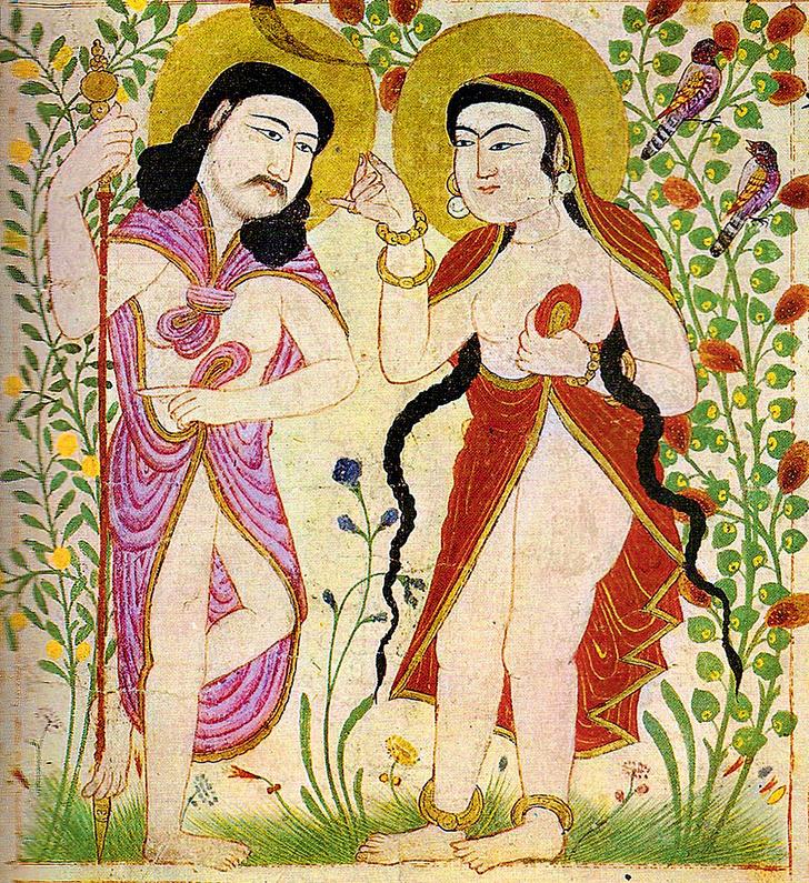 Фото №7 - Галерея: как изображали Адама и Еву последние  2000 лет