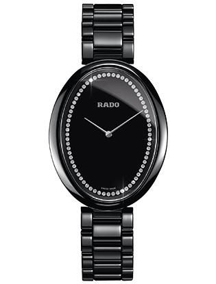 Часы с сенсорной технологией Rado eSenza Touch, черная high-tech керамика, бриллианты.