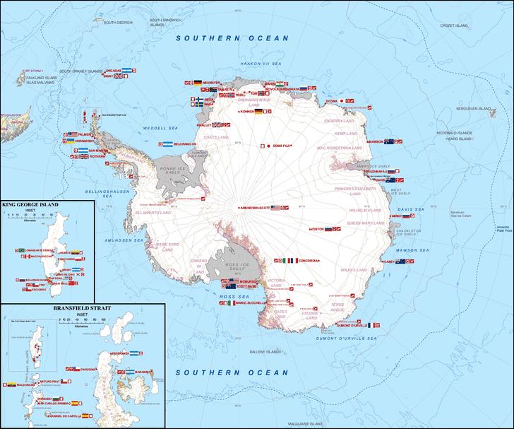 Фото №4 - Карта: какая страна на какую часть Антарктиды претендует