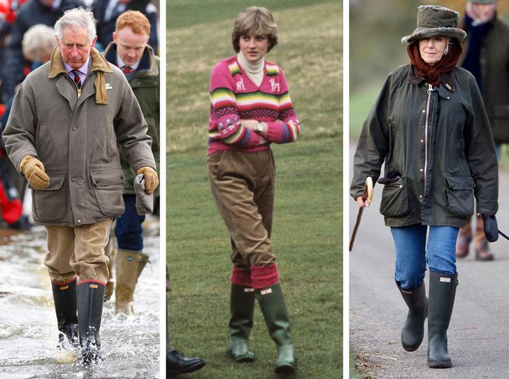 Фото №1 - Любимый бренд королевской семьи: как Виндзоры носят резиновые сапоги Hunter