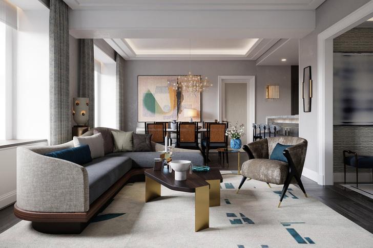 Фото №6 - Люксовые апартаменты по дизайну Жана-Луи Деньо