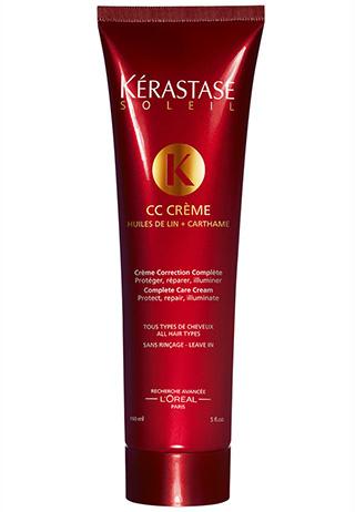Несмываемый крем с УФ-фильтрами, льняным и сафлоровым маслами CC Crème, Kérastase