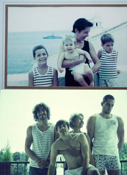 Фото №1 - Назад в 90-е: 17 попыток повторить детские снимки