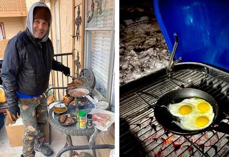 Жители Техаса выкладывают в «Твиттер» фото, как они справляются с отсутствием в домах воды, света и тепла