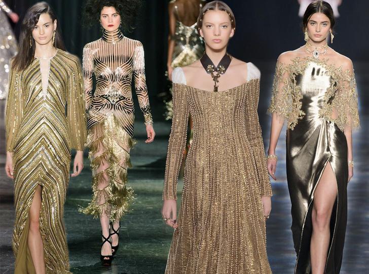 Фото №1 - Новогодний образ: топ-15 золотых платьев для главного вечера