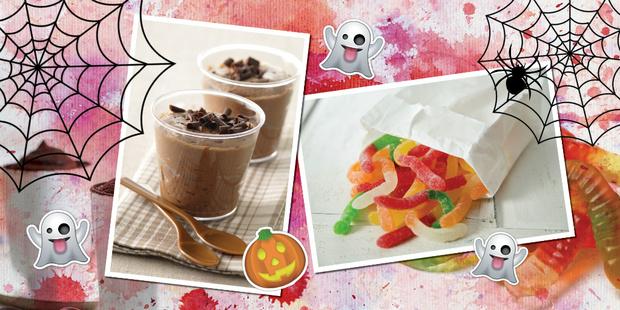 Шоколадный мусс с червяками  рецепты хэллоуин простые
