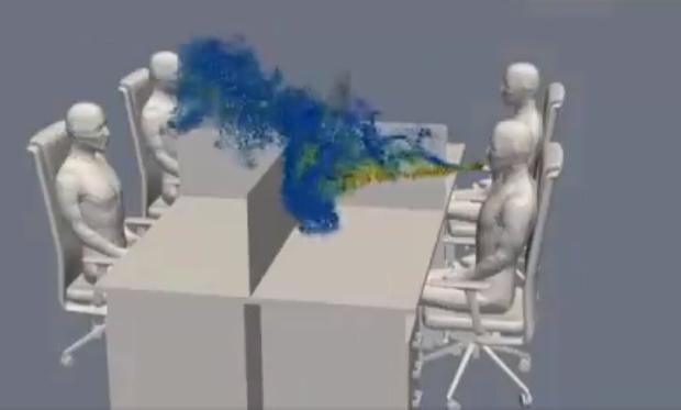 Фото №1 - Ученые показали, как вирус распространяется в офисе после кашля (видео)