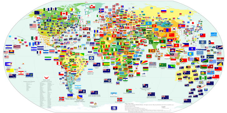 Фото №1 - Карта: самые похожие флаги в странах мира